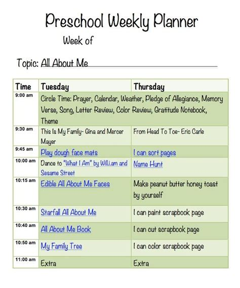 homeschool lesson plan for preschool all about me lesson plan pic mmo pinterest