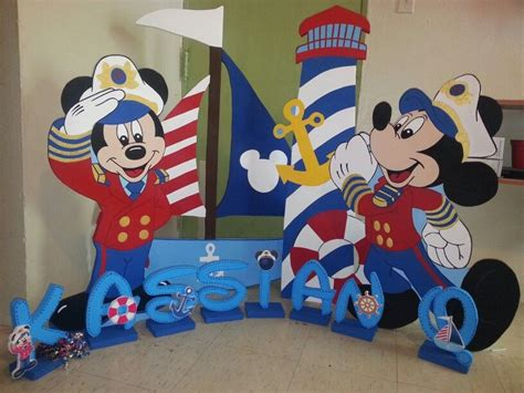 mickey mouse boat mickey nautical sailor lighthouse boat mickey y minnie
