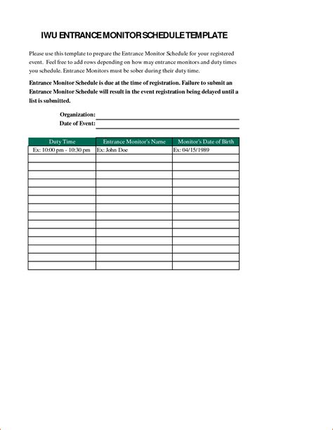 Event Template 6 Event Schedule Template Bookletemplate Org