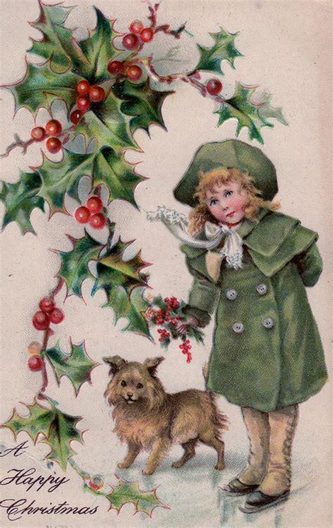 vintage christmas 52 flea vintage holiday postcards for you