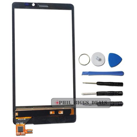 Lcd Nokia N920 Complete Touchscreen Hitam for nokia lumia 920 n920 front glass lens touch screen digitizer replacement ebay