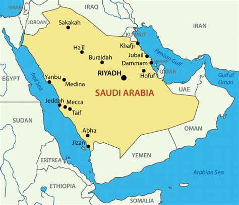 uae and saudi arabia map map of the gulf cooperation council countries saudi