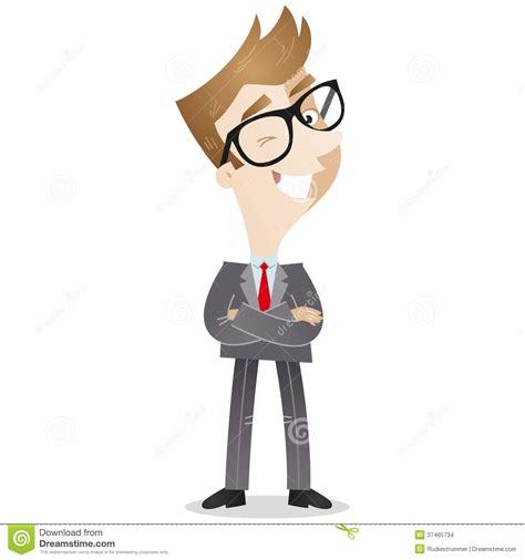 imagenes animadas hombres personaje de dibujos animados hombre de negocios confiado