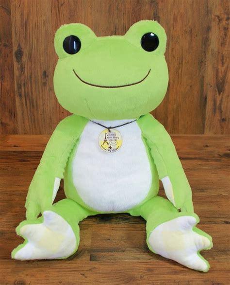 Boneka Rilakuma Frogy Second 3 pickles the frog check pickles plushie medium