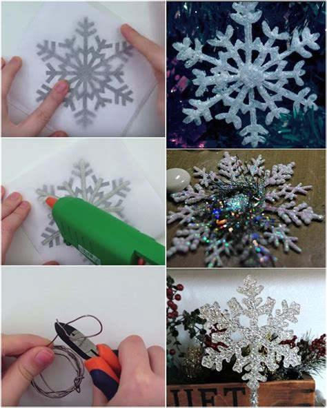 Paper And Glue Crafts - diy glue snowflakes diy craft projects