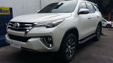 Fortuner Ad2039b Black List White glass carcoating toyota fortuner 2016 pearl white
