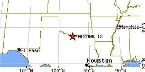 nocona texas map nocona texas tx population data races housing economy