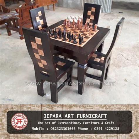 Meja Catur jual kursi meja makan unik catur jawa harga murah