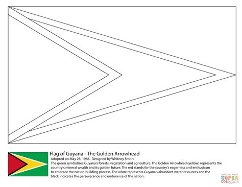 coloring pages of latin american flags guyana flag coloring page free printable coloring pages