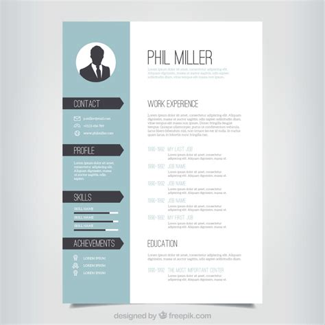 Resume Templates With Design For Free 10 Top Free Resume Templates Freepik
