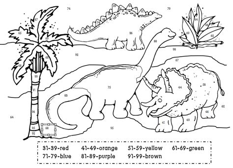 1st Grade Learning Stars Dino Color By Numbers Coloring Pages For 1st Graders