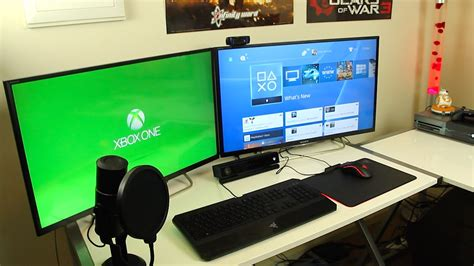 gaming setup my gaming setup room tour 2016