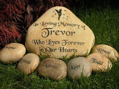 Memorial Rocks For Garden Large Engraved River Rock Memorial Engraved Rock