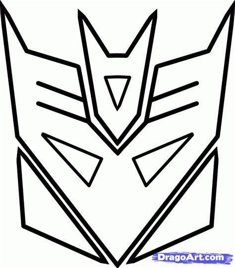draw logo how to draw decepticons step by step robots sci fi