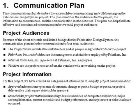 how to write a communications plan template the project communication plan mpug