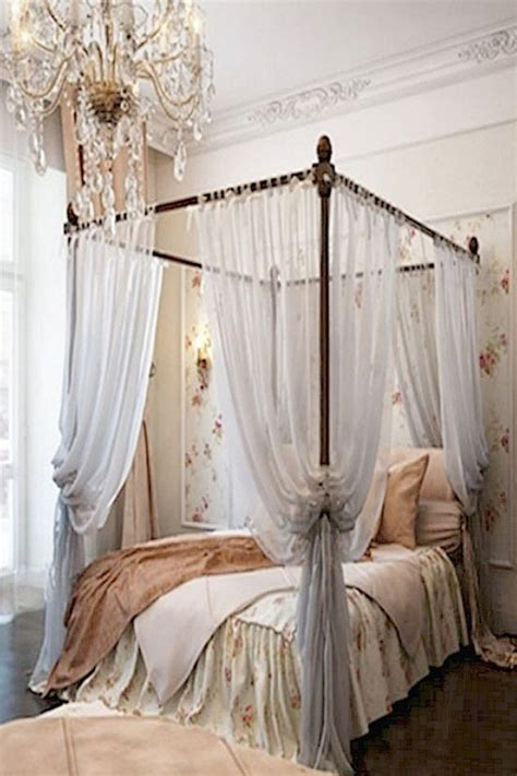 Four Poster Bed Curtains Drapes Four Poster Bed With Curtains Lit Baldaquin Pour Une Chambre De D 195 169 Co Romantique Moderne Canopy