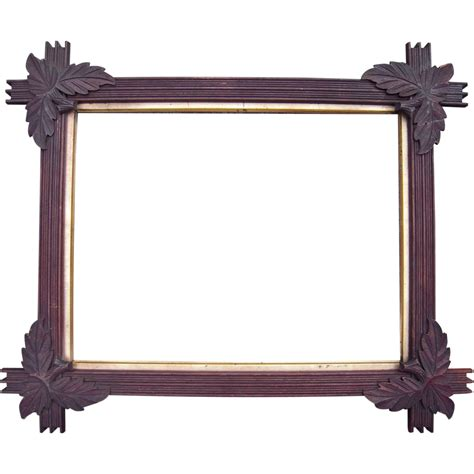 corner frame carved walnut picture frame w corner leaves 13 quot x 17 quot from