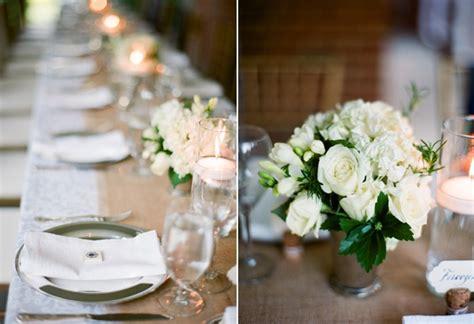 elegant virginia outdoor wedding table reception burlap