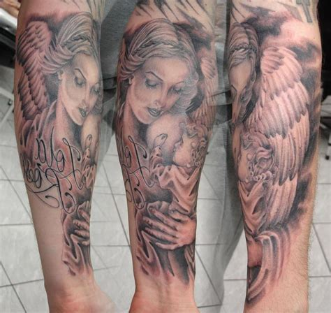 mother tattoos for son tattoos