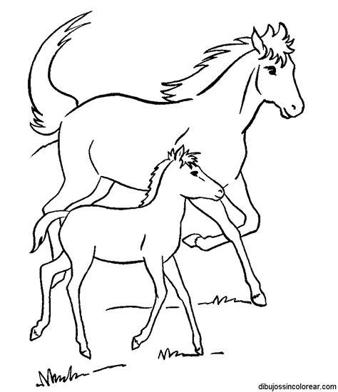 imagenes para colorear un caballo dibujos de caballos para colorear