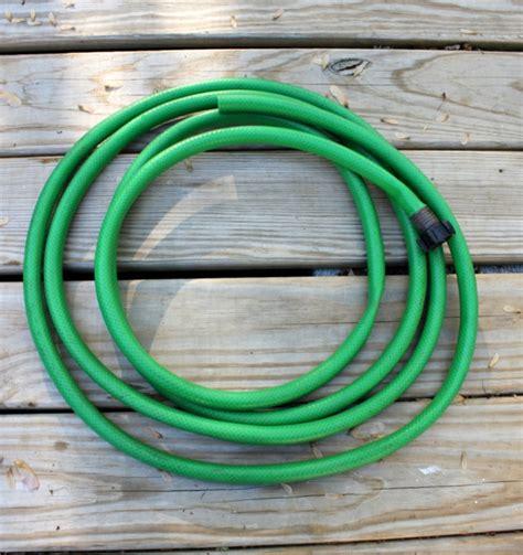 garden hose wreath daisymaebelle daisymaebelle