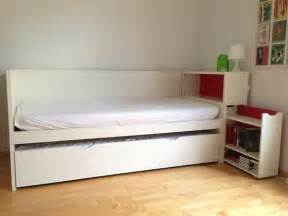 ikea flaxa with headboard storage and trundle bed bed