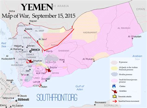 map of yemen jemen konfliktkarte