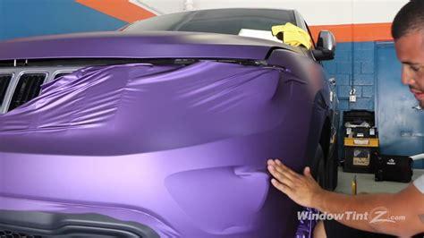 matte purple jeep matte purple vinyl car wrap 2014 jeep grand