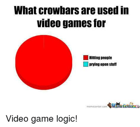 Video Game Logic Meme - what crowbars are used in videogames for hitting people