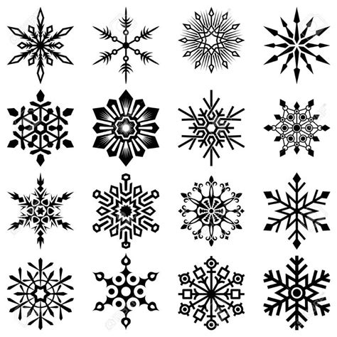 snowflake tattoo design snowflake set horthmen royalty