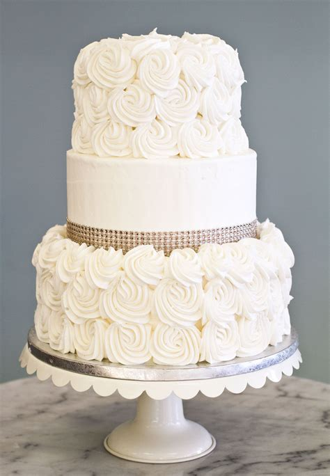 Wedding Cake Pics Simple by A Simple Wedding Cake With Rosettes And