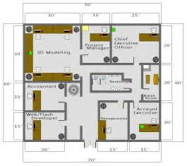 In Plan Autocad Business Floor Plan
