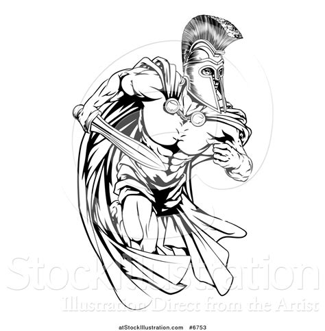 coloring page of trojan printable spartan warrior drawings pictures to pin on