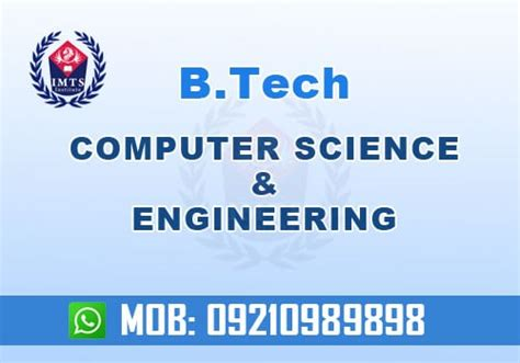 Computer Science Engineering And Mba by Btech Computer Science And Engineering Min Imts India