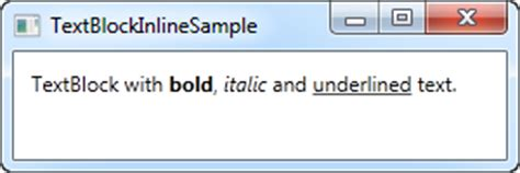 html tutorial underline text the textblock control inline formatting the complete