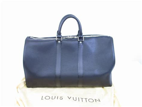 Soft Jacket Black With Leather Branded Louis Vuitton 1 louis vuitton soft epi leather black duffle bag keepall 45 6425 authentic brand shop tokyo s