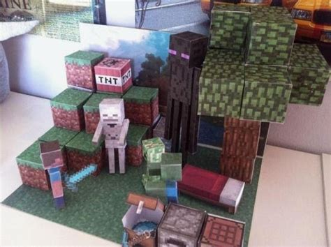Minecraft 3d Papercraft - papermau make your own minecraft diorama by minecraft