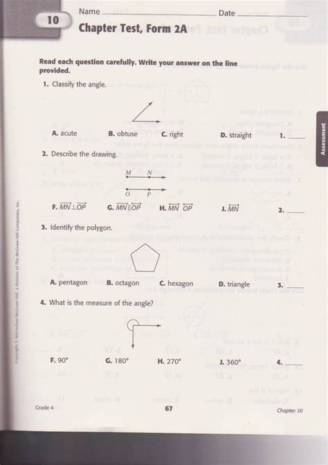 Math Quiz Worksheet by Scanned School Worksheets Math Practice Test