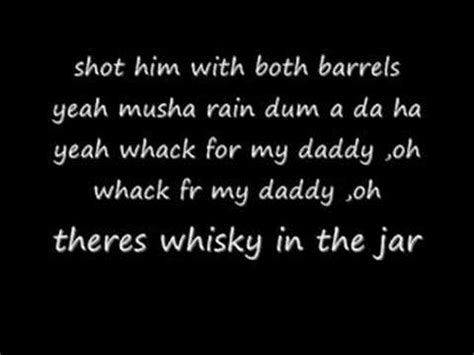 metallica whisky in the jar lyrics metallica whisky in the jar lyrics youtube