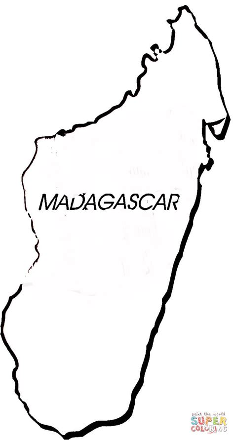 madagascar map coloring page dibujos de mapas de africa y paises para colorear