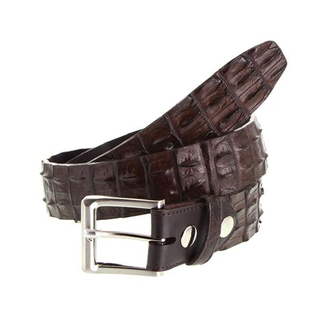 Belt Croco crocodile leather belt the australian made caign