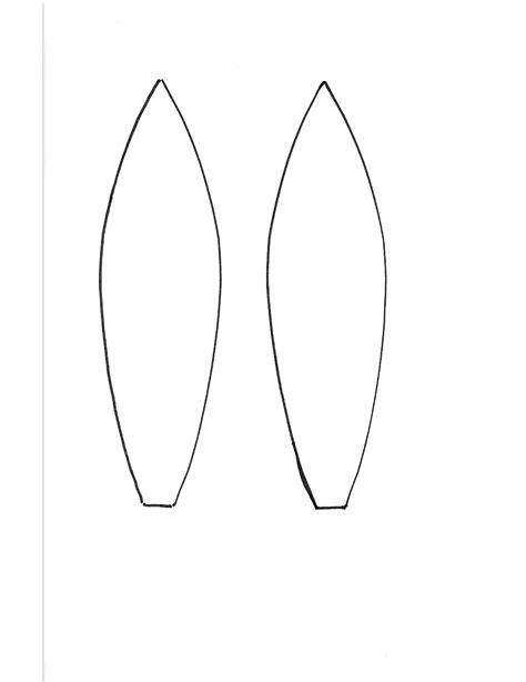 bunny ears template pdf bunny ear headband template free