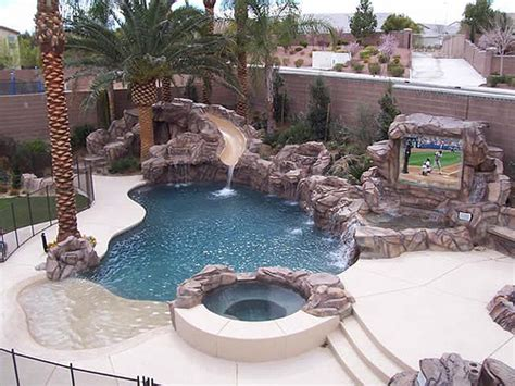 extreme backyards swimming pool rock flickr photo sharing