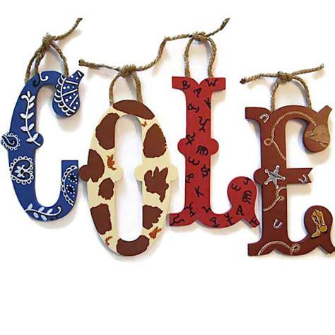Cowboy Decor Cowboy Western Bedding Wall Letters Clocks And