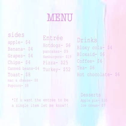 Welcome To Cafe welcome to bloxburg pastel cafe menu roblox