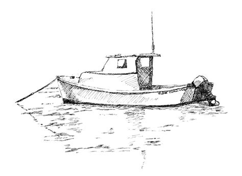 how to draw a rescue boat simple fishing boat drawing