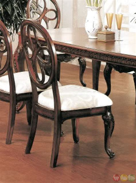 cherry dining room table and chairs cassandra deep cherry dining room set with cabriole legs