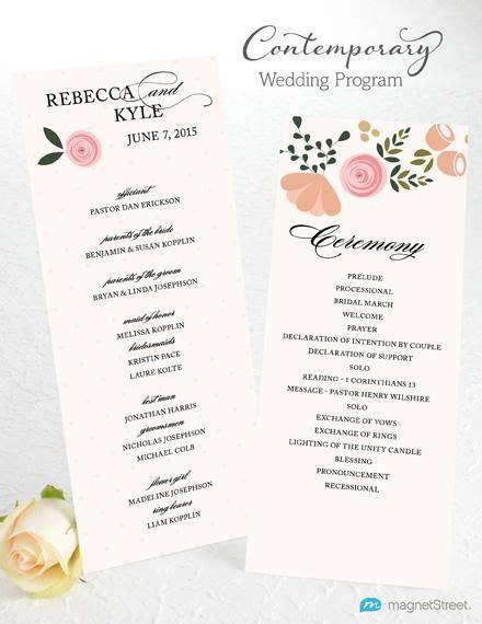 traditional wedding program template wedding program wording