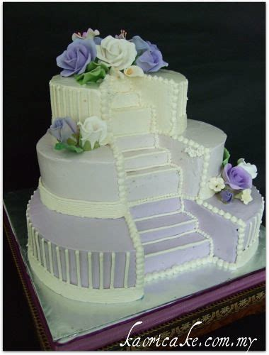 Love Stairs Wedding Cake   For mould, please visit www