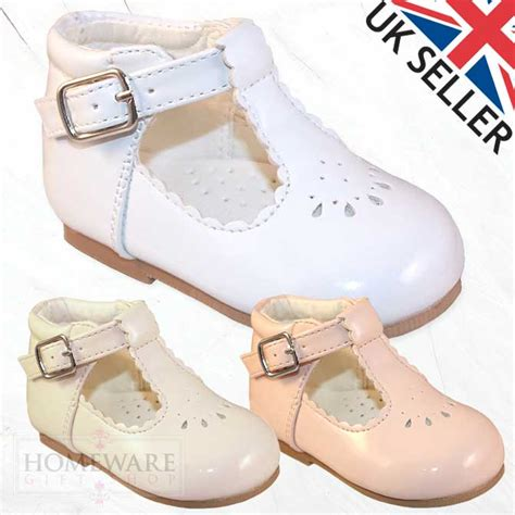 size 1 infant shoes baby style patent shoes pink white ivory uk